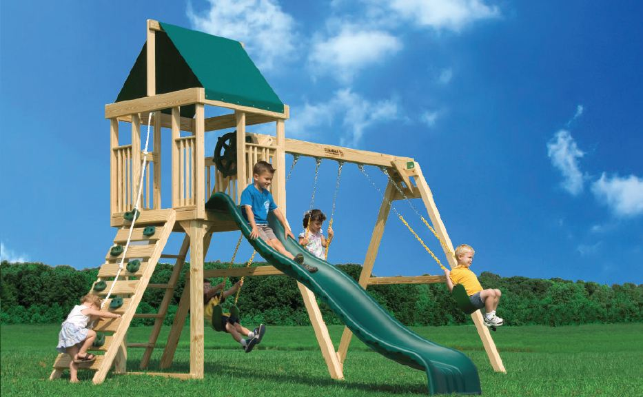 A-Frame Swing Set